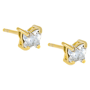 Crystal Butterfly Stud Earring Gold - Adina's Jewels