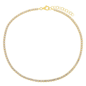 Gold Thin Tennis Anklet - Adina's Jewels