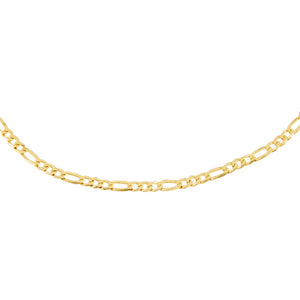 "Gold / 15.75"" Flat Figaro Chain Necklace - Adina's Jewels"
