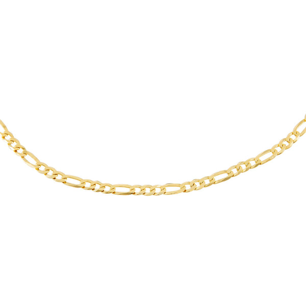 "Gold / 16"" Flat Figaro Chain Necklace - Adina's Jewels"
