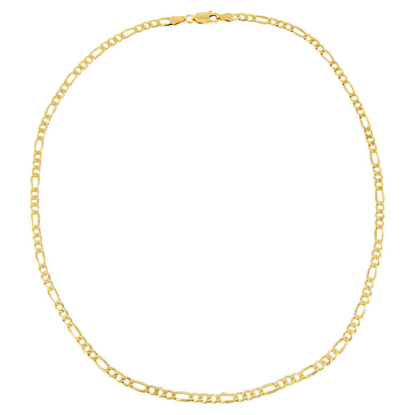 Flat Figaro Chain Necklace - Adina's Jewels