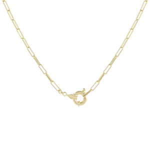 Toggle Oval Link Necklace Gold - Adina's Jewels