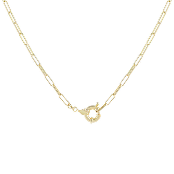 Gold Toggle Oval Link Necklace - Adina's Jewels
