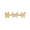 Pavé Triple Butterfly Ring - Adina's Jewels