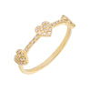 14K Gold / 6 Diamond Hearts Ring 14K - Adina's Jewels