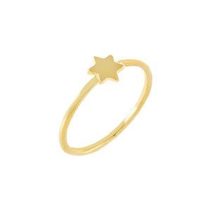 Gold / 5 Solid Starburst Ring - Adina's Jewels