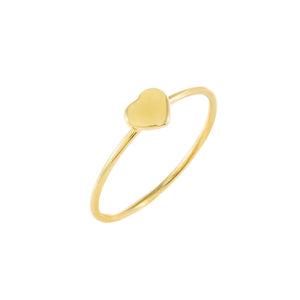 Gold / 5 Solid Heart Ring - Adina's Jewels