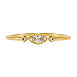 Gold / 6 CZ Multi Stone Dainty Ring - Adina's Jewels