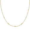 "Thin Multi Bar Necklace 14K 14K Gold / 16"" - Adina's Jewels"