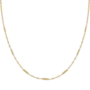 "14K Gold / 16"" Thin Multi Bar Necklace 14K - Adina's Jewels"