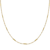 Thin Multi Bar Necklace 14K 14K Gold / 16
