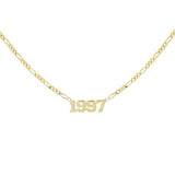 Gold Year Nameplate Necklace - Adina's Jewels
