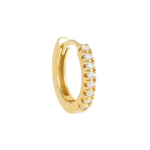 CZ Huggie Earring 14K 14K Gold / Single - Adina's Jewels