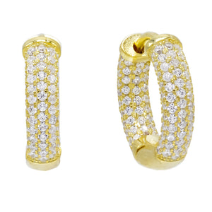 Gold Pavé Small Hoop Earring - Adina's Jewels