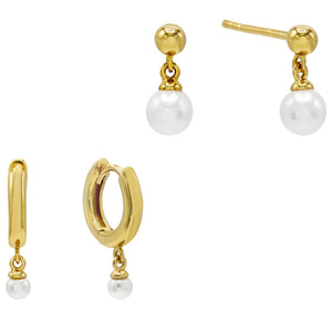 Dangling Pearl Earring Combo Set Combo - Adina's Jewels