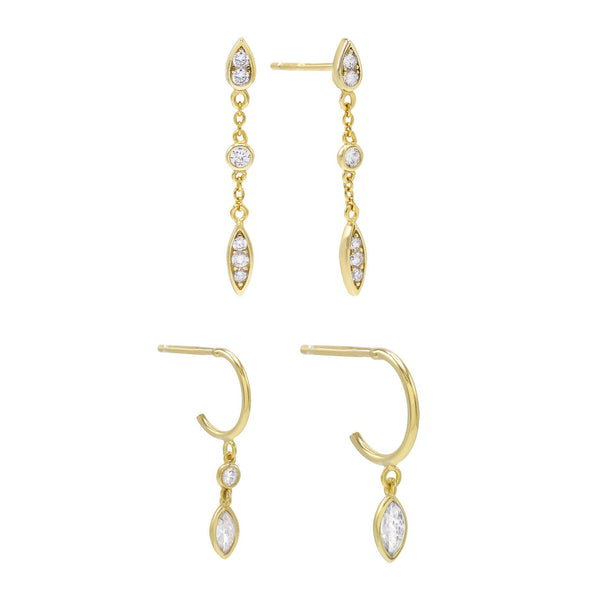Combo Teardrop Earring Combo Set - Adina's Jewels