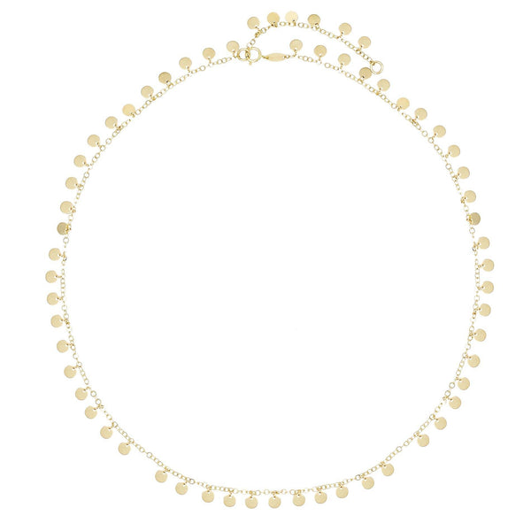 14K Gold Gold Disc Necklace 14K - Adina's Jewels