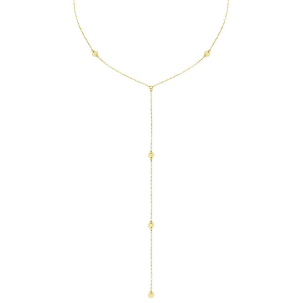 Gold Disc Lariat