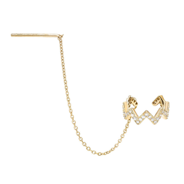 Gold Threader Ear Cuff - Adina's Jewels