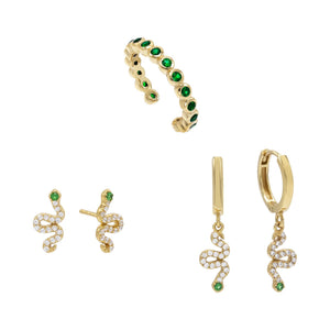 Combo Snake Earring Combo Set - Adina's Jewels