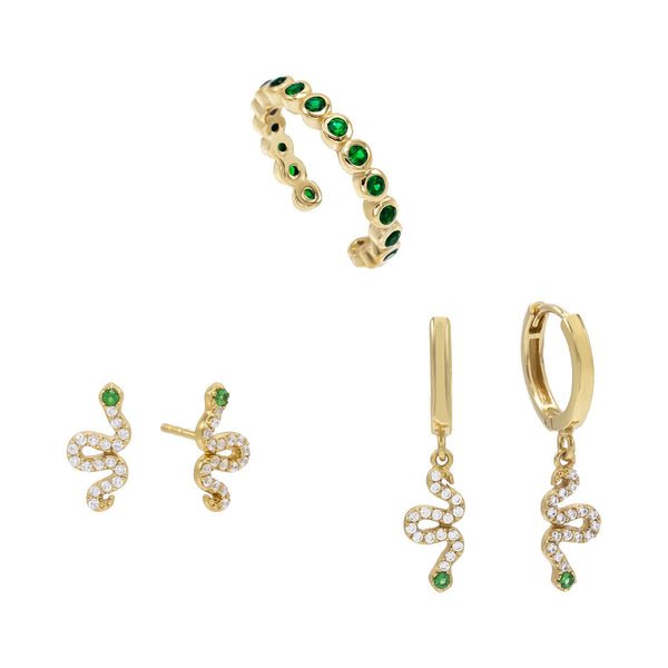 Snake Earring Combo Set