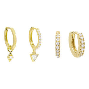 Huggie Earring Combo Set Combo - Adina's Jewels