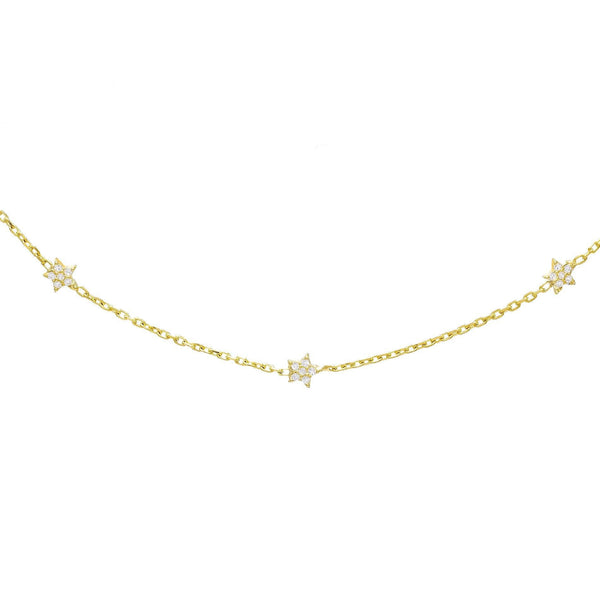 Gold Mini Star Choker - Adina's Jewels