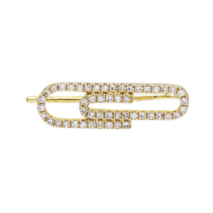 Diamond Clip Ear Climber 14K - Adina's Jewels