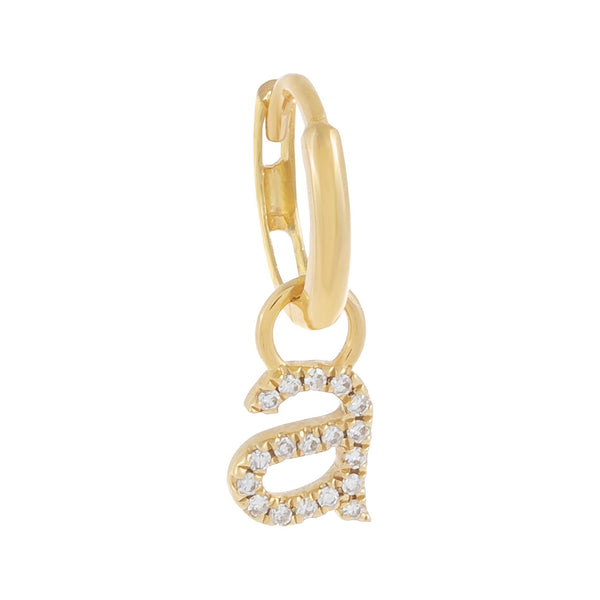 Diamond Lowercase Initial Charm 14K - Adina's Jewels