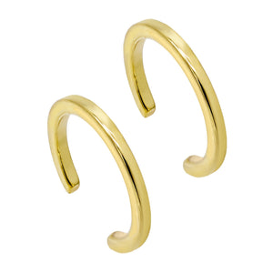 14K Gold Solid Ear Cuff Combo Set 14K - Adina's Jewels
