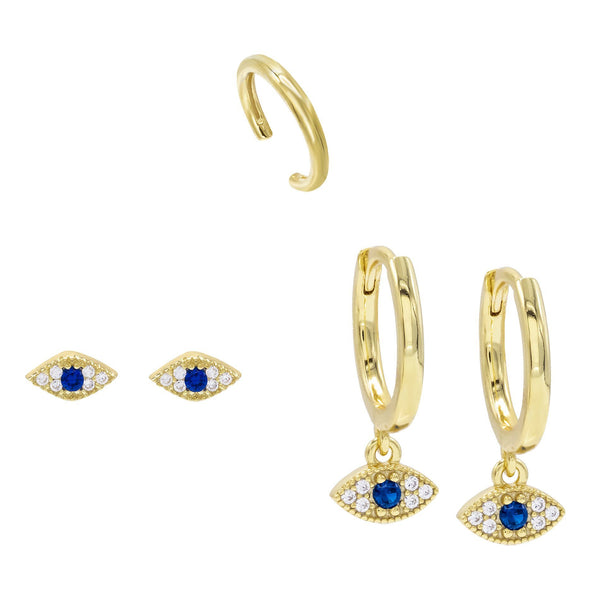 Combo Evil Eye Earring Combo Set - Adina's Jewels