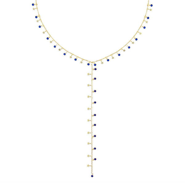 Star Bezel Lariat - Adina's Jewels