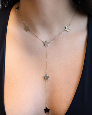 Star Lariat 14K - Adina's Jewels