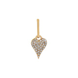 14K Gold Diamond Mini Heart Charm 14K - Adina's Jewels