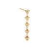 Diamond Cluster Drop Stud Earring 14K 14K Gold / Single - Adina's Jewels