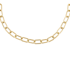 "14K Gold / 16"" Hollow Chunky Link Necklace 14K - Adina's Jewels"