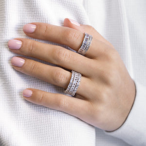 Baguette X Round Ring - Adina's Jewels