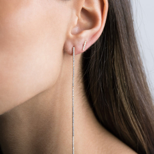 Long Drop Stud Earring - Adina's Jewels