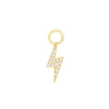 14K Gold Diamond Mini Lightning Bolt Charm 14K - Adina's Jewels