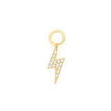 Diamond Mini Lightning Bolt Charm 14K 14K Gold - Adina's Jewels