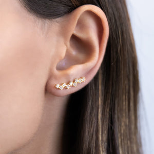 Stone Encrusted Ear Climber  - Adina's Jewels