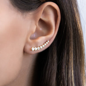 Bezel Ear Climber - Adina's Jewels