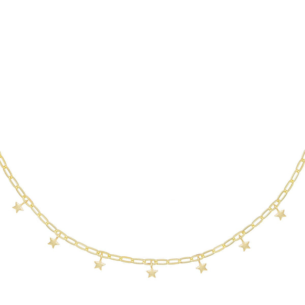 Gold Mini Star Link Choker - Adina's Jewels
