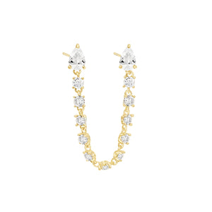 Multi Marquise Chain Stud Earring Gold - Adina's Jewels