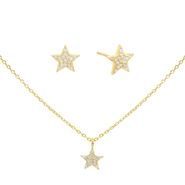 Combo Star Earring & Necklace Combo Set - Adina's Jewels