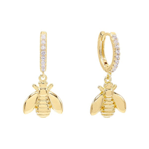 Bee Huggie Earring Gold - Adina's Jewels