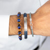 Steel & Leather Bracelet - Adina's Jewels