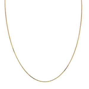 "Box Chain Necklace 14K 14K Gold / 16"" - Adina's Jewels"