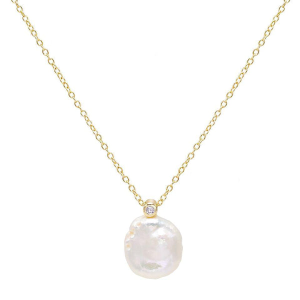 Pearl White Lana Necklace - Adina's Jewels