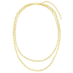 Double Chain Link Necklace - Adina's Jewels